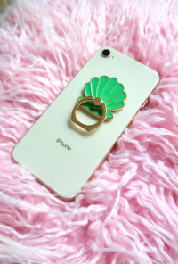 Seashell Shimmer Cell Phone Stand Ring