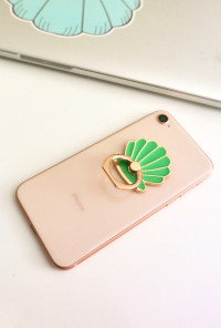 mermaid Seashell Cell Phone Stand Ring