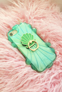 Seashell Cell Phone Stand Ring