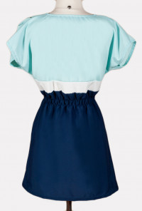 Nautical Color Block Skater Dress