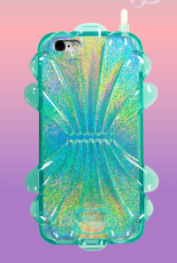 Shellfish Holographic Cell Phone Case in Aqua for iPhone 6/6S