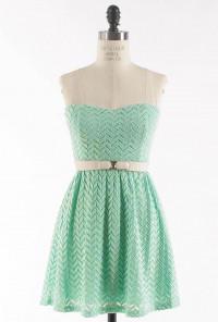 mint Lace Sweetheart Skater Dress