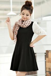 pink cat print scarf