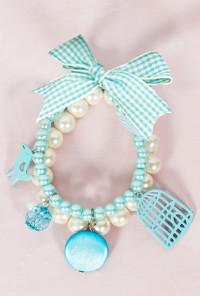 Bracelet - Songbird's Tweet Pearl Bracelet in Blue Harmony