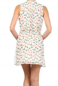 Bicycle Print Sleeveless Dress