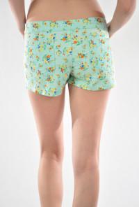 mint Floral Print Shorts