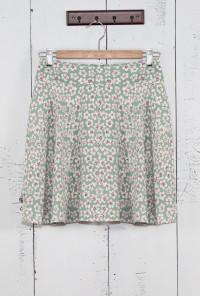 Ditsy Daisy Skater Skirt in Sage