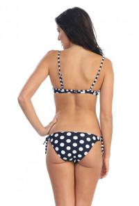 Polka Dot Bikini Set in Navy Blue