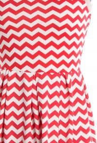 Chevron Pattern Sleeveless Ponti Dress