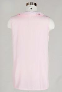 Pink Peter Pan Collar Top with Polka Dot Neck Tie
