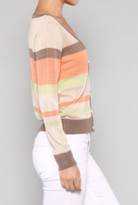 Colorful Stripe Cardigan