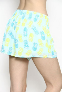 Pineapple Print Shorts in Mint
