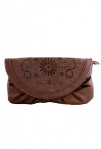 Clutch - Tuscany Sunrise Multi-Wear Purse Brown Clutch