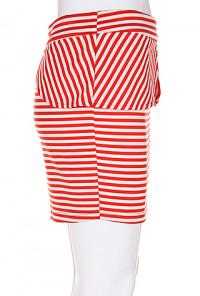 Tulip Peplum Striped Mini Skirt