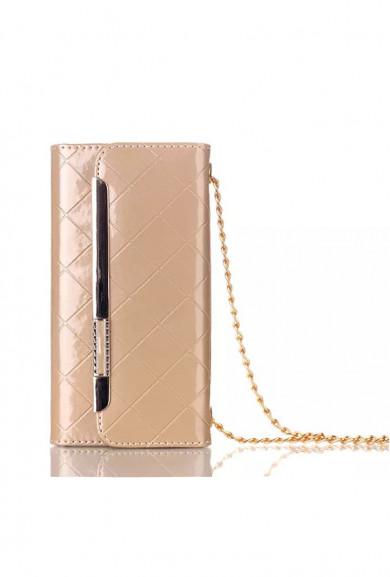 Wristlet - Boss Lady Lattice Crossbody iPhone 6 Plus Wallet Gold Wristlet