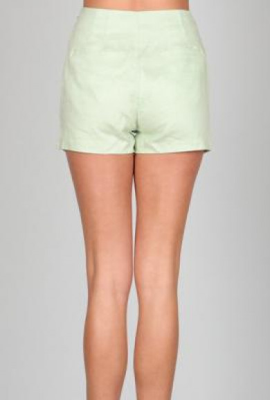 Shorts - Spring Prance High Waist Linen Pocket Mint Green Shorts by Ark & Co