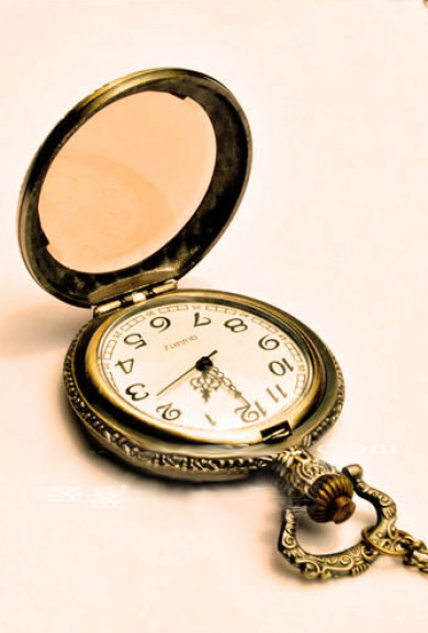 Necklace - Once Upon a Time Tea Glass Pocket Watch Necklace