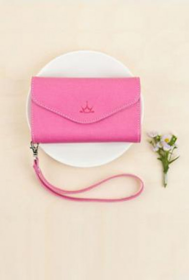 Wristlet - Princess' Chattel Cell Phone Magenta Wallet Wristlet