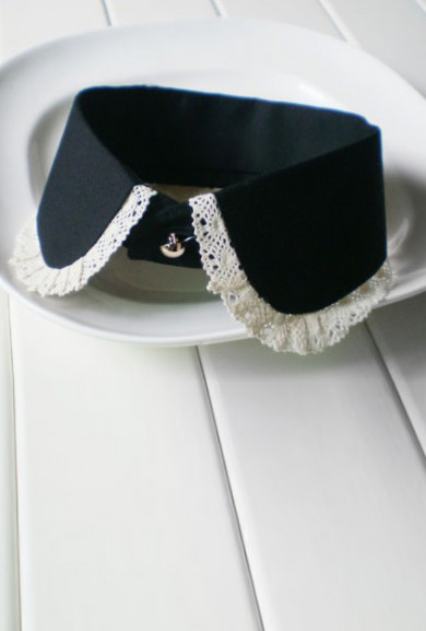 Collar - Austen Society Lace Trim Vintage Statement Collar