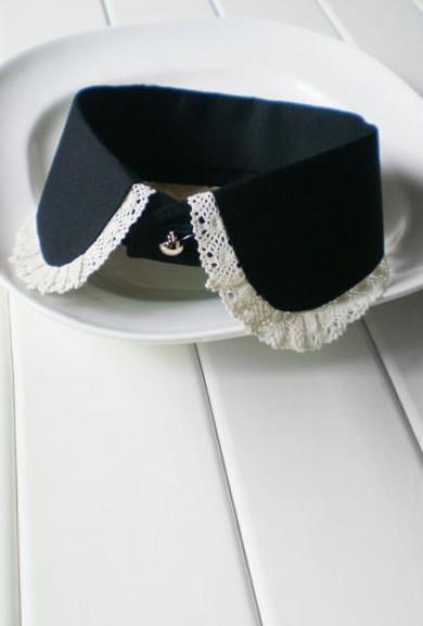 Collar - Austen Society Lace Trim Vintage Statement Collar