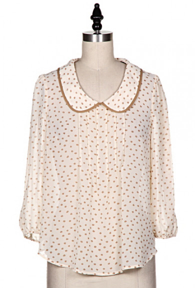 Blouse - Amiable Modesty Peter Pan Collar Pin-tuck Blouse