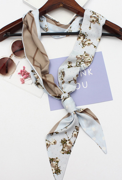 Scarf - Soft Blooms Cherry Blossom Scarf in Blue