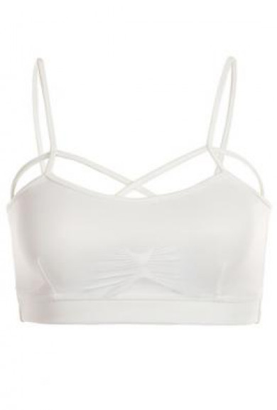 Bralette - Complex Simplicity Criss Cross Padded White Bralette
