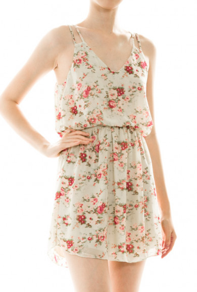 Dress - Country Fair Floral Print Dress in Mint