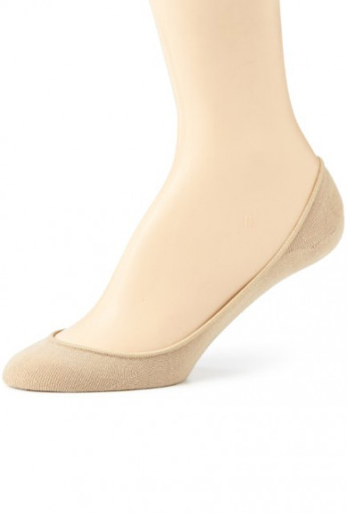 Socks - Daily Comfort No Show Beige Foot Liner Socks