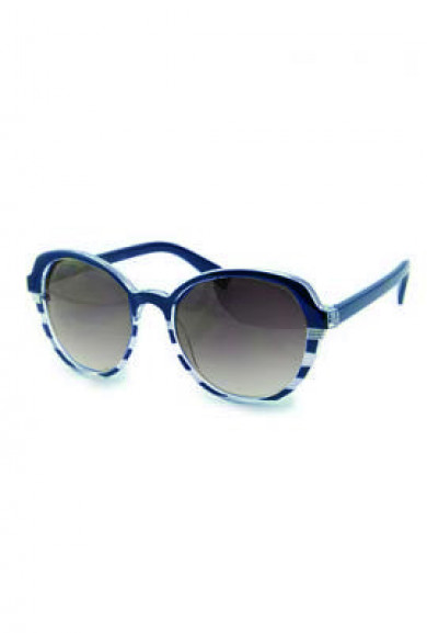 Sunglasses - Day at Sea Nautical Striped Navy Blue Sunglasses