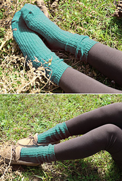 Socks - Day by Day Chunky Teal Knit Socks