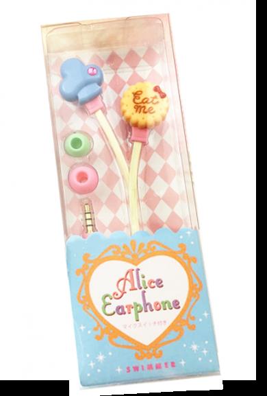 Alice in Wonderland Eat Me Cookie Earphones