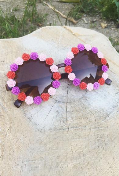 Sunglasses - Flower Goddess Rose Rim Sunglasses