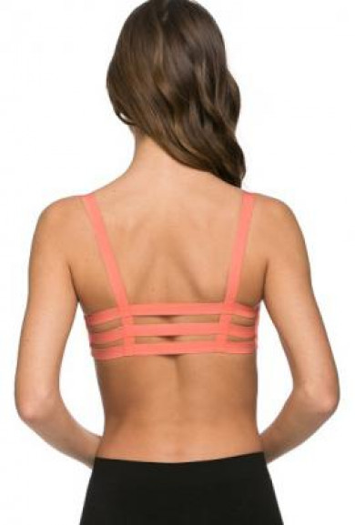 Bralette - Freedom in Motion Caged Coral Bralette