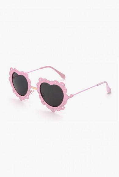 Sunglasses -French Vintage Lace Rim Heart Sunglasses Pink