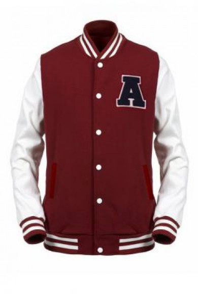 Jacket - Freshman Year Varsity Letterman Jacket in Burgundy