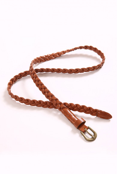 Gypsy Wishes Braided Brown Skinny Belt