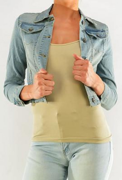 Jacket - Horseback Lass Light Stone Wash Cropped Denim Jacket