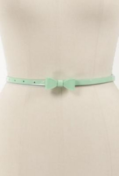 Belt -In a Bind Patent Bow Belt in Mint