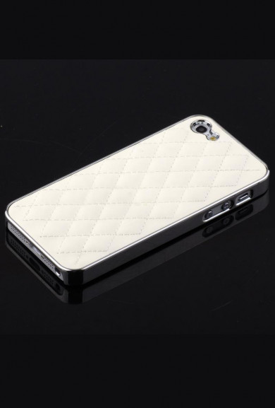iPhone Case - Madame Matelasse Quilted iPhone 5 case in Classy White