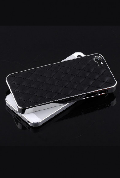 iPhone Case - Madame Matelasse Quilted iPhone 5 case in Elegant Black