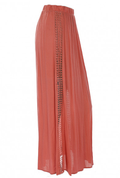 Skirt - Island Stroll Maxi Skirt in Coral