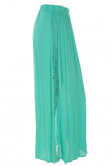 Skirt - Island Stroll Maxi Skirt in Mint