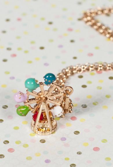 Necklace - La Grande Roue Ferris Wheel Pendant Necklace-Small