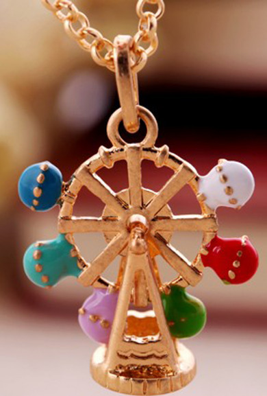 Necklace - La Grande Roue Ferris Wheel Pendant Necklace-Large