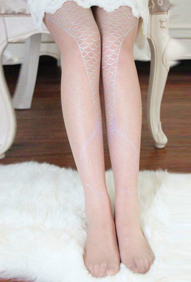 Tights - Legs to Fins Mermaid Tail Tights in Nude