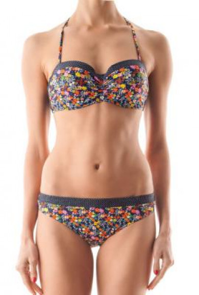 Bikini Set - Love Mixture Floral Print Halter Bikini Set