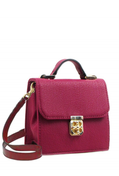 Purse - Audacious Statement Crossbody Accent Purse in Maroon