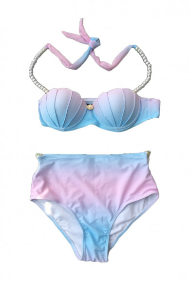 Bikini Set - Mermagical Creatures Ombre Seashell Bikini