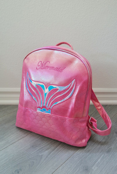 Backpack - Mermaid Mini Backpack in Fuchsia